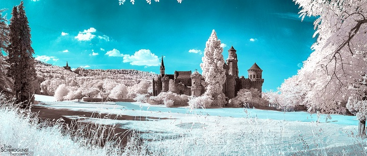 Панорама Lions Castle & Hercules зимой