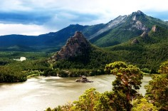 Сказочное озеро Бурабай в Казахстане